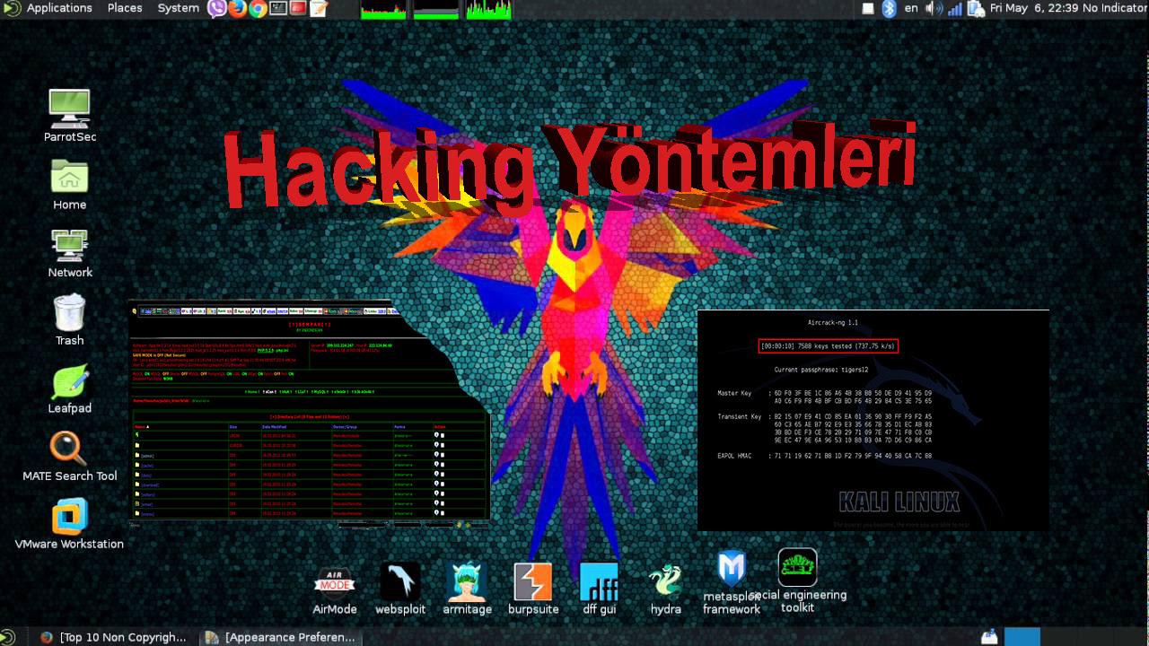 Kali linux Hacking araçları(Kali Hacking Tools)