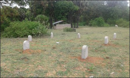 Memorial stones within the Buddha vihara land