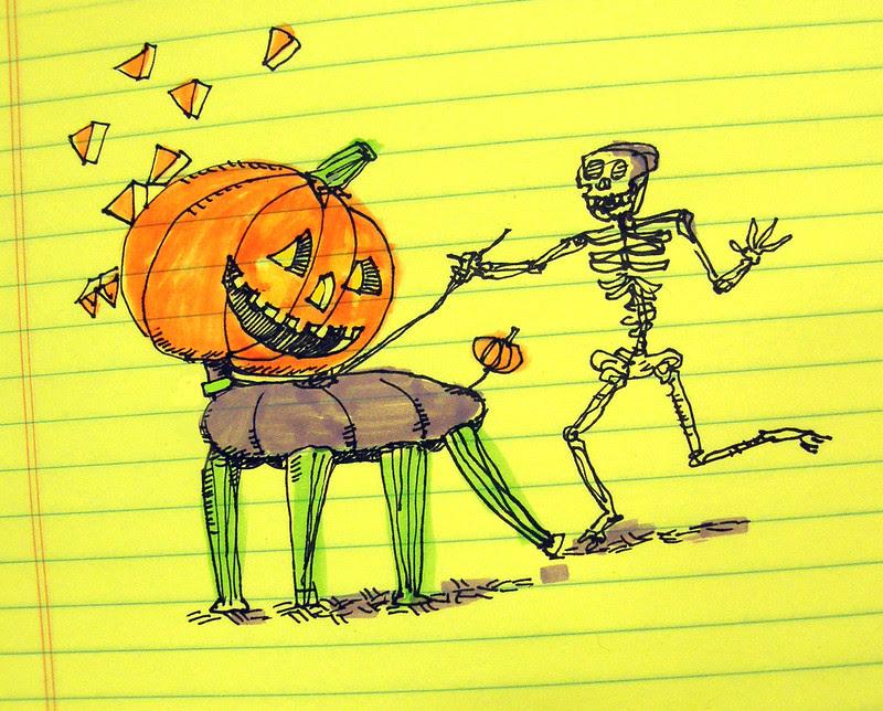 do the skeleton walk