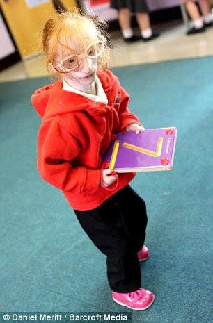 Charlotte Garside in her new school