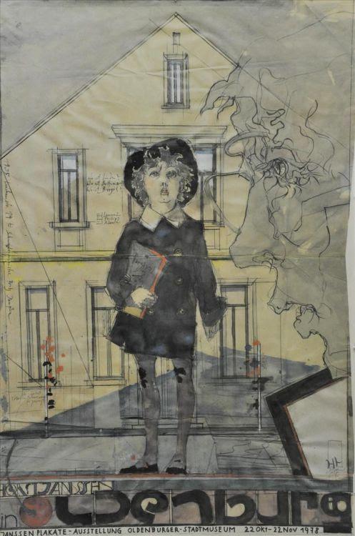 yama-bato:  Janssen, Horst Farboffsetdruck (1929-1995) Stadtmuseum Oldenburg via