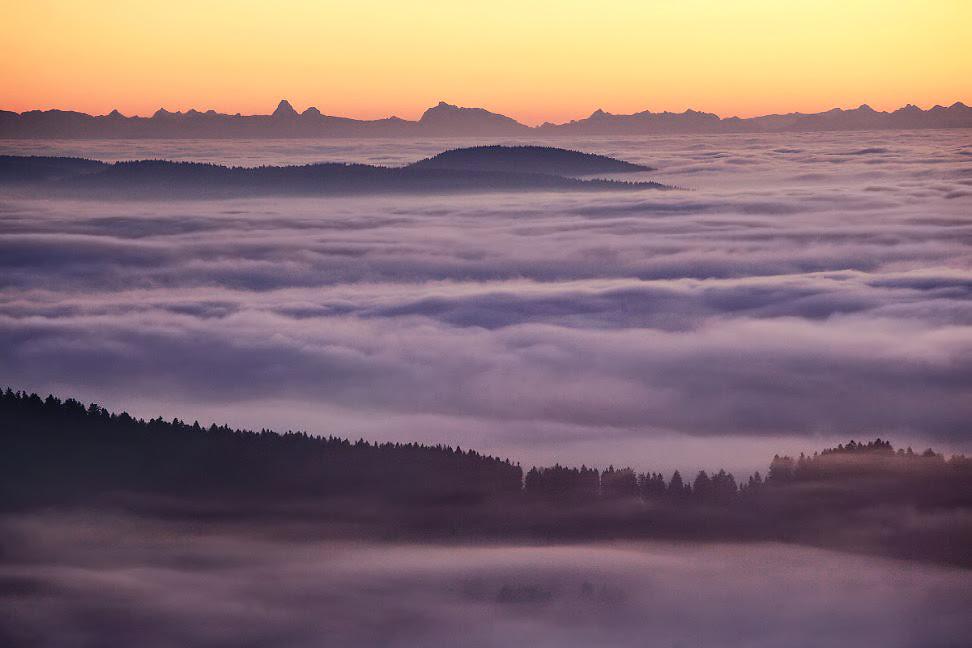 Foggy European Landscapes at Sunrise Photographed by Kilian Schönberger mountains landscapes fog Europe