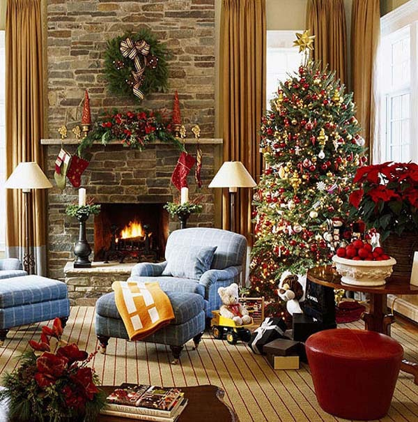 Awesome Simple Living Room Xmas Decorations pictures