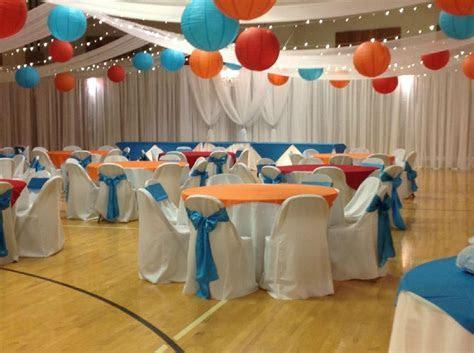 LDS Wedding Reception in Gymge   Wedding Decor Church