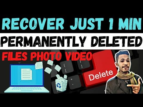 How to Recover Permanently Deleted Files From Windows PC 2021   How to Recover Lost or Deleted Data