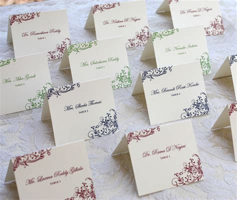 Wedding Reception Escort Cards   Invitations by Ajalon