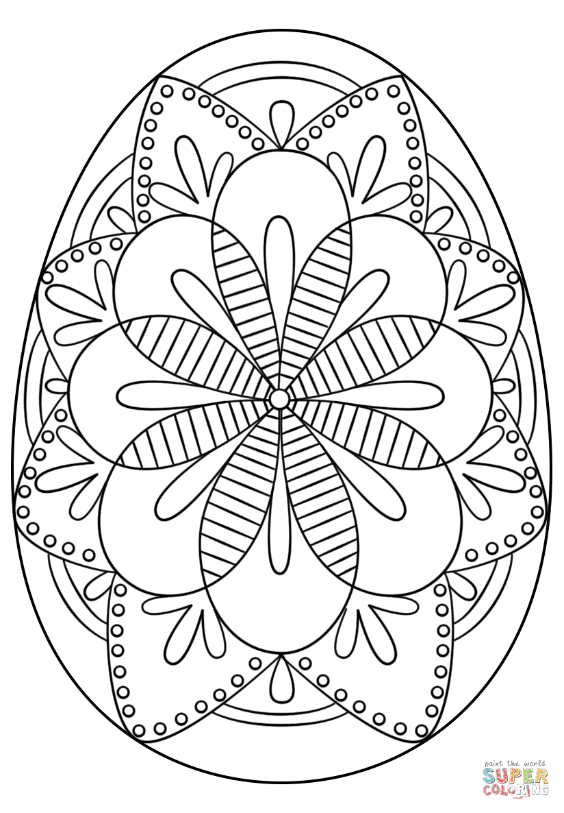 Hard Easter Egg Coloring Pages For Adults   Coloring and Drawing