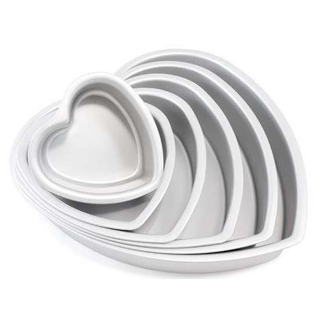 Heart Shaped Cake Pan Fat Daddio's   Chef's Complements