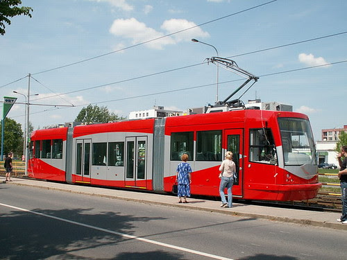 DC streetcar being tested in Ostrava, Czech Republic