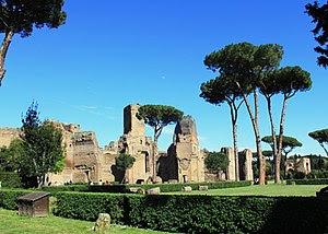 English: Ruins of the Baths of Caracalla, Rome...