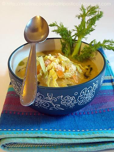 Zuppa di verza, sedano e finocchio