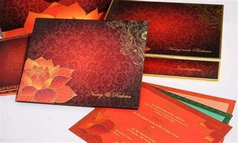 Lotus Indian Wedding Card at Rs 450 /piece   Sector 6