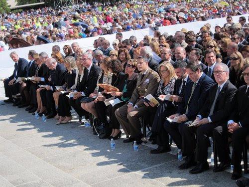 Autoridades políticas en la beatificación de 522 mártires, en Tarragona