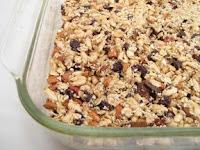 Photo of homemade granola bars