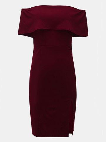 Women Off Shoulder Package Hip Mini Dress