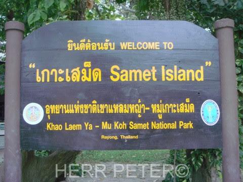 Entrada al parque natural de Koh Samet