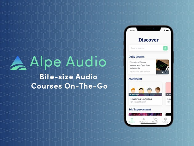 Alpe Audio: Bite-Size Audio Courses On the Go for $29