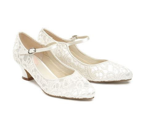 Mermaid   Low Heel   Perditas Wedding Shoes UK