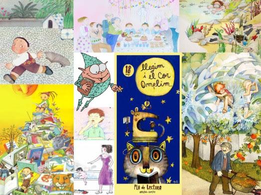 Collage amb obres dels diferents il·lustradors
