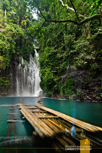 Rentable Bamboo Raft at Tinago Falls in Iligan City