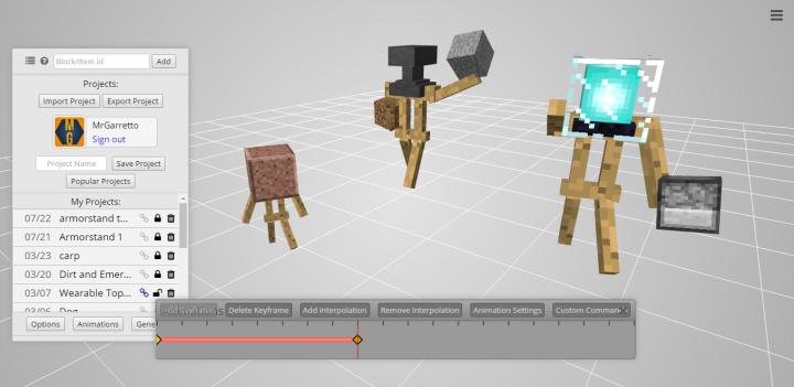 Minecraft Animation Armor Stand Micro Usb G
