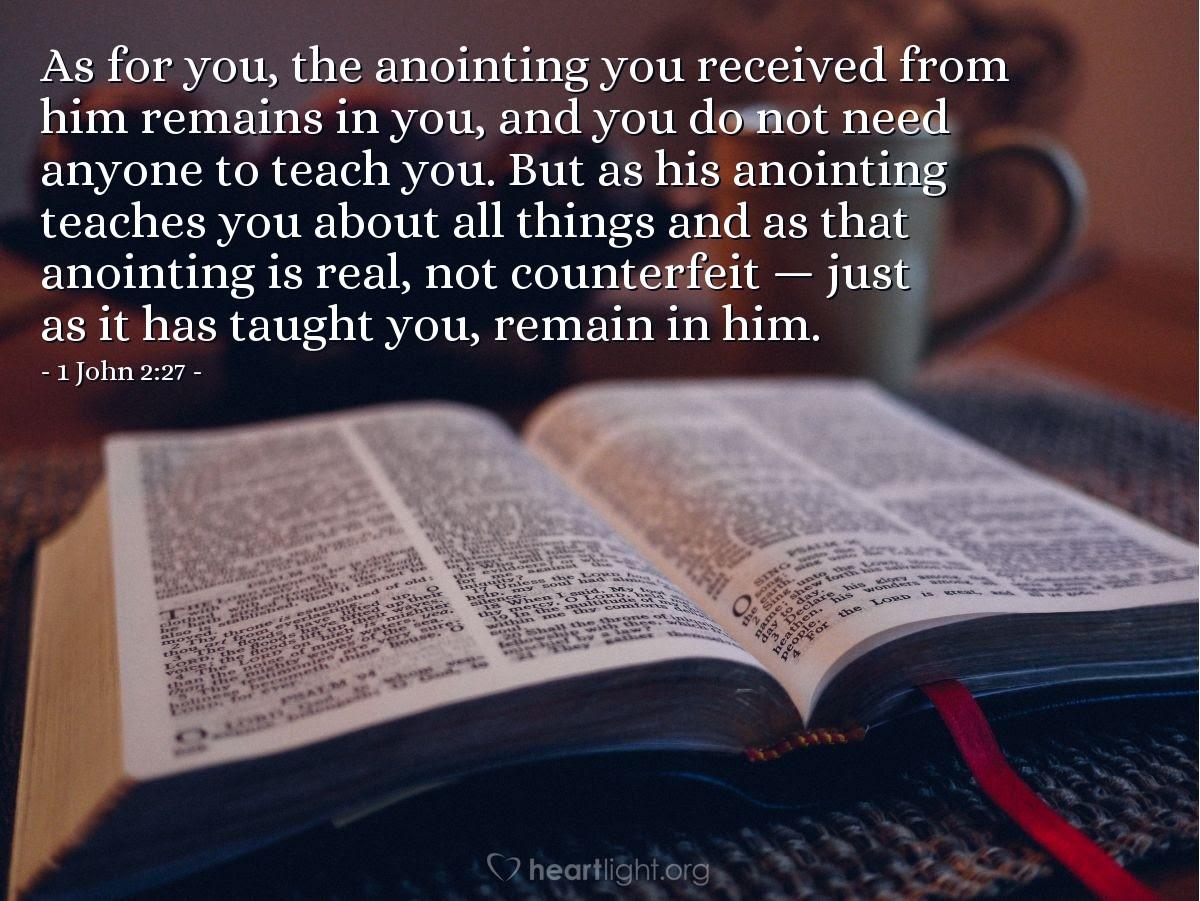 Illustration of 1 John 2:27