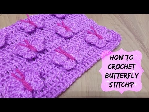 How to crochet butterfly stitch? | !Crochet! (Como crochet borboleta pontos? | !Crochê!)