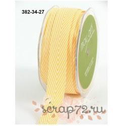 Лента Twill от May Arts, шеврон, цвет желтый, 19мм, 90см