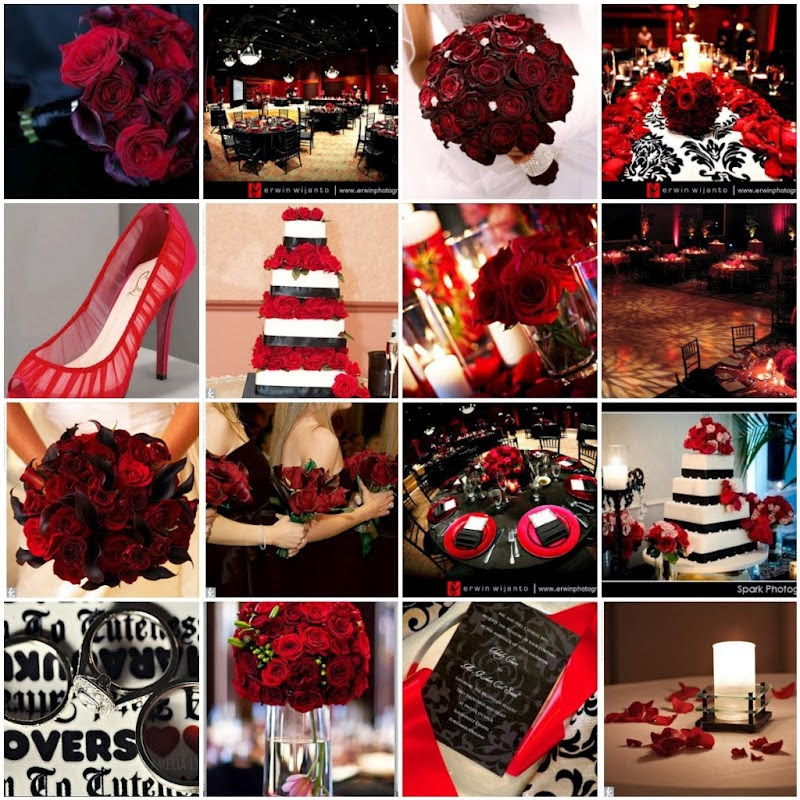 Jazz It Up With A Red And Black Wedding Theme Gps Decors