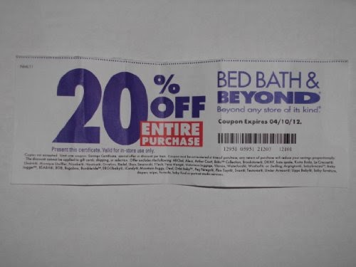 bed bath and beyond coupon 2012 bed bath and beyond 20 entire purchase bed 13145