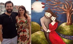 perierga.gr - Ζωγράφισε τον άντρα των ονείρων της, τον βρήκε και τον παντρεύτηκε!!!