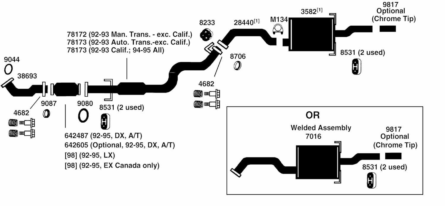 Wiring Diagram Database  2000 Honda Civic Exhaust System