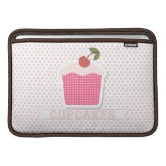 Cupcakes & Polka Dots Macbook Air Sleeve