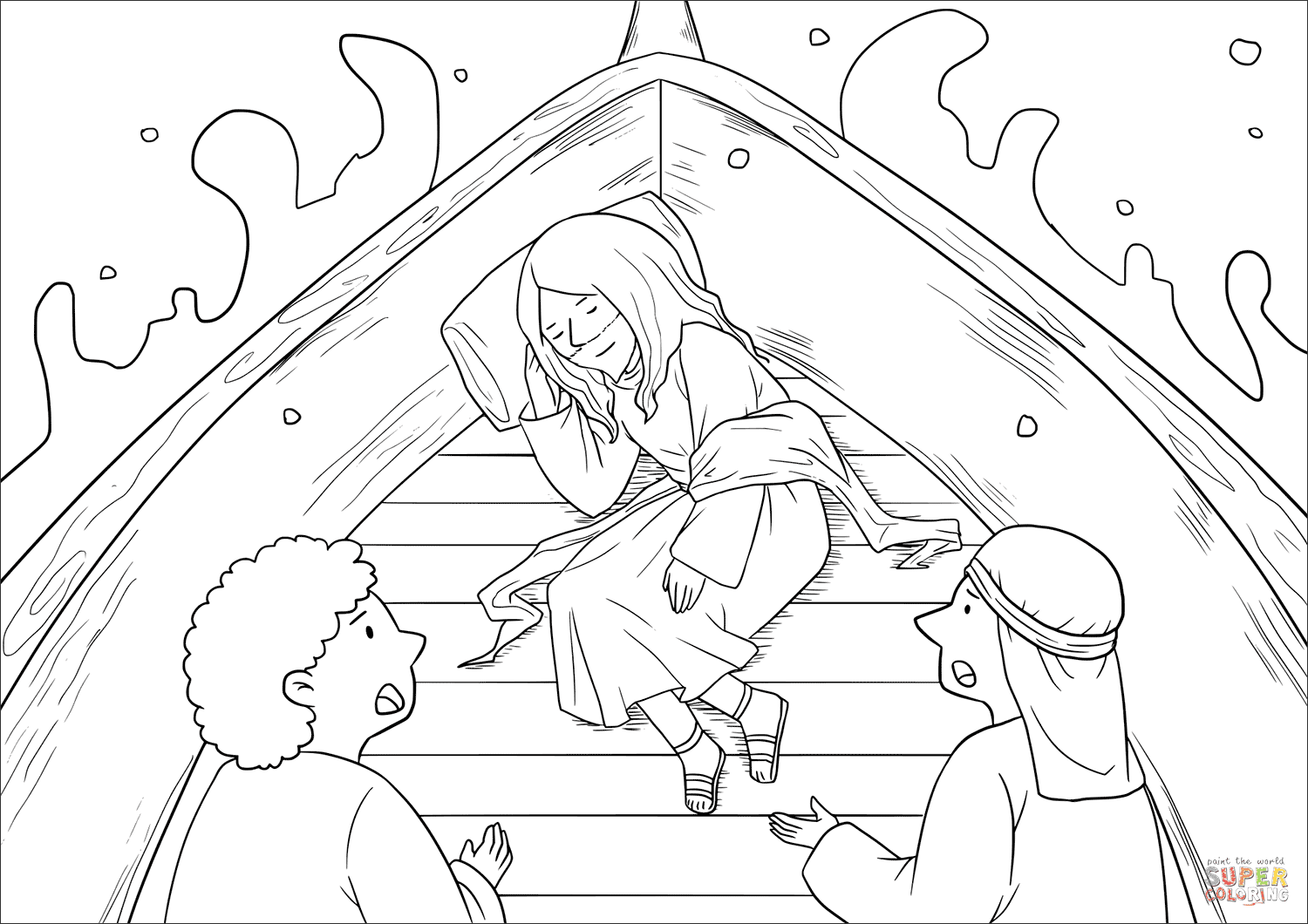 free coloring pages of jesus calming the storm | Fresh Free Coloring Pages Of Jesus Calming the Storm ...