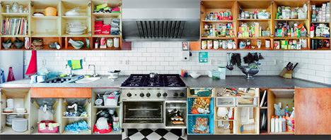 3 portraits of kitchens