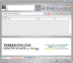 Times Online Desktop Search