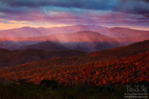 Sunrise Through Storm, Ridge View, Shenandoah National Park, Virginia