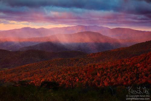 Sunrise Through Storm, Ridge View, Shenandoah National Park, Virginia
