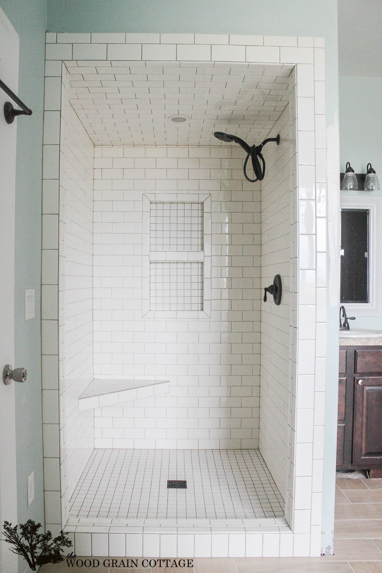 New Master Bathroom Tile by The Wood Grain Cottage 8