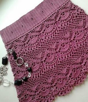 Crochet padrão para uma saia