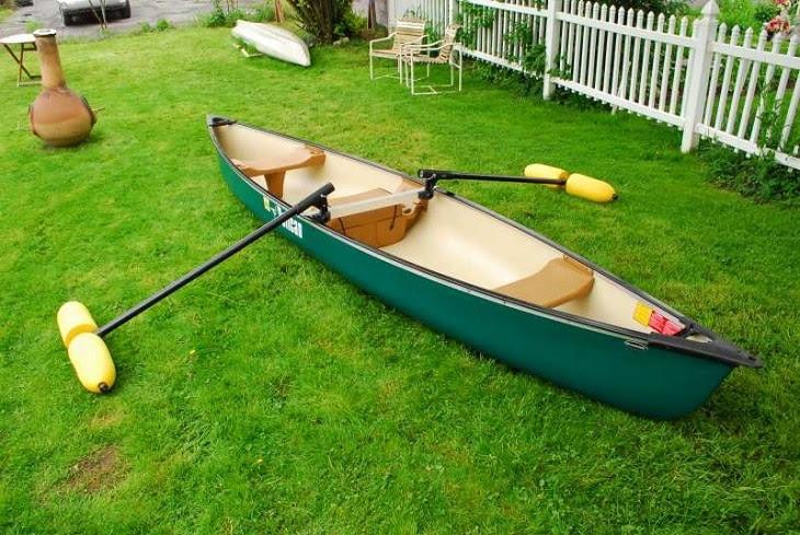 Homemade canoe outriggers
