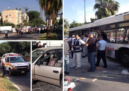 Colpito bus a Tel Aviv