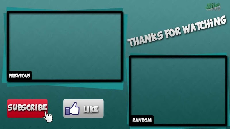 Blank Youtube Outro Template