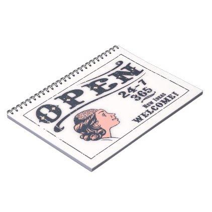 Open Mind -f Spiral Notebook