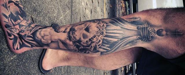 30 Lion Leg Tattoo Designs For Men Big Cat Ink Ideas