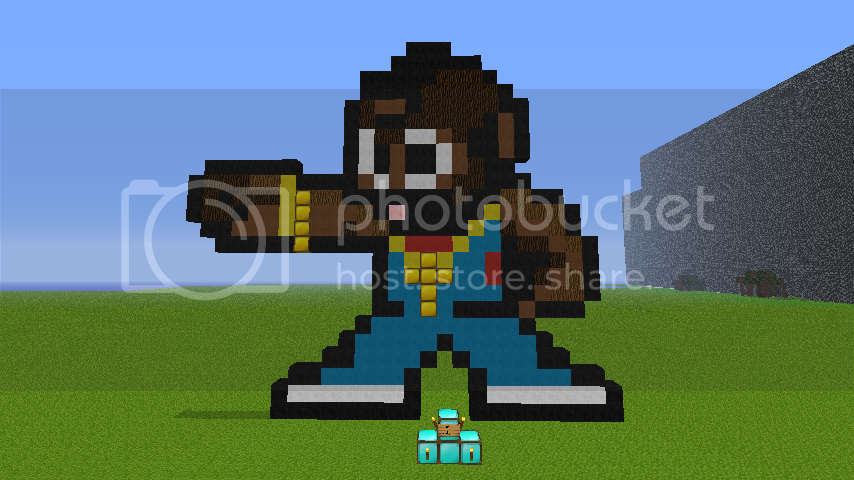 Minecraft Robot Pixel Art - Micro USB e