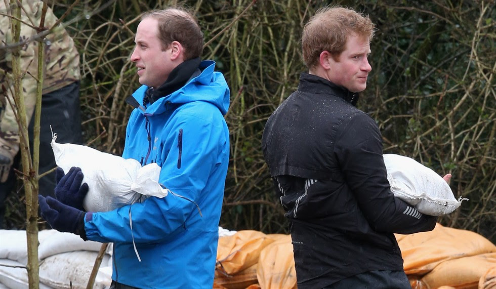 William ed Harry, volontari per un giorno