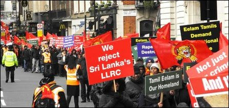 Tamils protest in UK