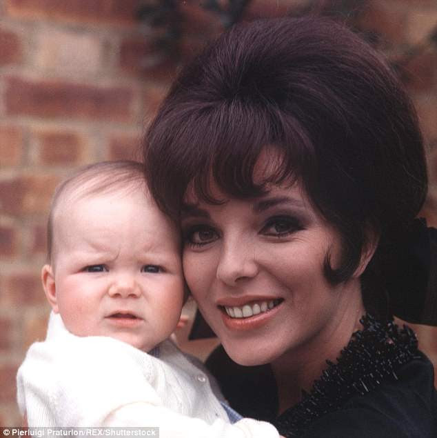 Joan Collins (pictured with her daughter Tara, as a baby) claims she was back in her normal clothes within a fortnight of giving birth to her third child