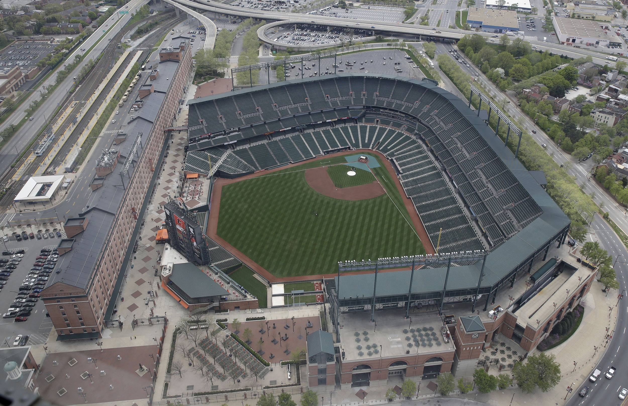Baltimore Orioles Play in Empty Camden Yards - NBC News